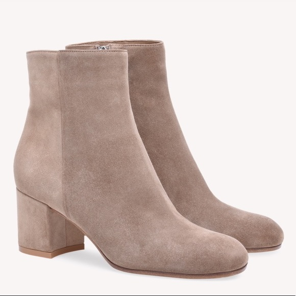 Gianvito Rossi Shoes - GIANVITO ROSSI  Suede Margaux Booties